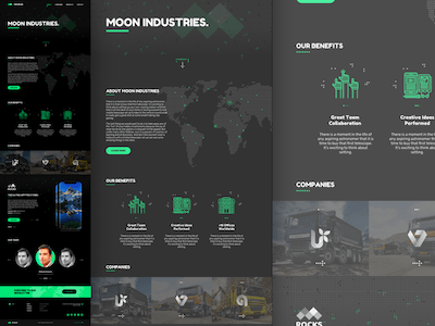 Moon Landing Page
