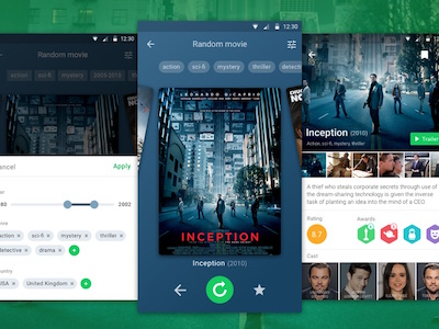 Android Movie Randomizer App Concept