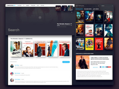 Movies Website Concept