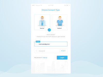 Login Form and Illustration