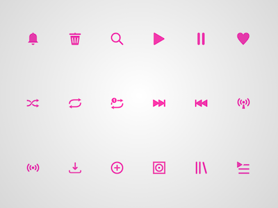 18 Music Player Icons