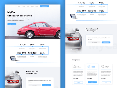 My Car Search Landing Page Template
