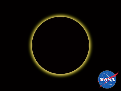 NASA Logo and Solar Eclipse