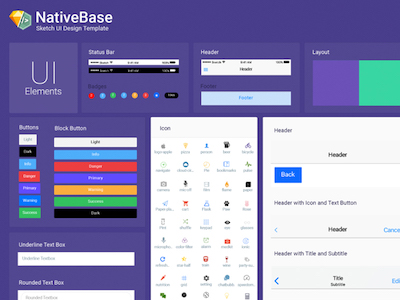 NativeBase Sketch Template