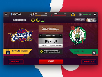 NBA Match Screen