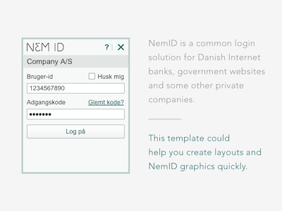 NemID Design Template