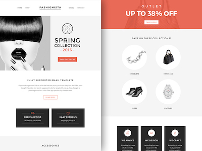 Fashionista Newsletter Template