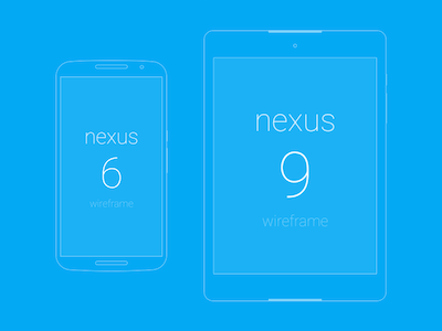 Wireframes for Nexus 6