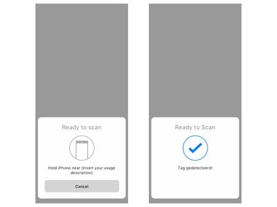 NFC Tag iOS Action Sheet