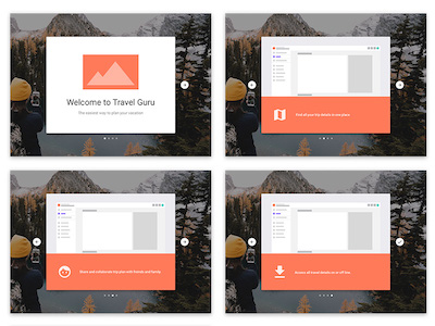 Sample Onboarding Screens