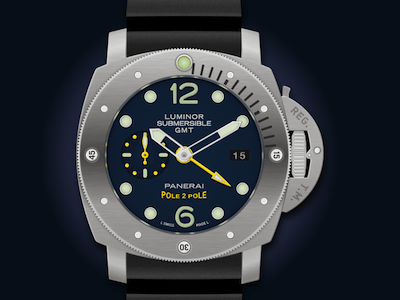 Luminor Submersible 1950 GMT Watch