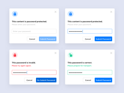 Password Protected Modal