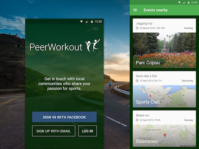 PeerWorkout Prototype for Android