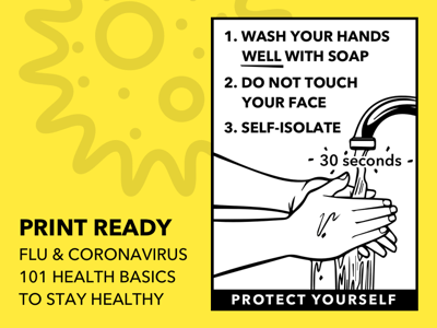 Printable Health Flyer for Flu and Coronavirus