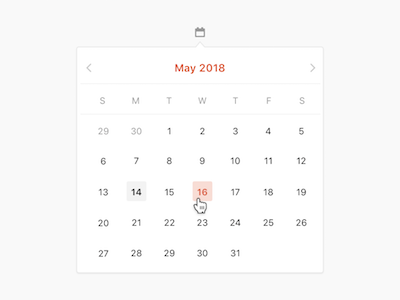 Product Hunt Date Picker