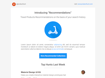 Product Hunt Mailer