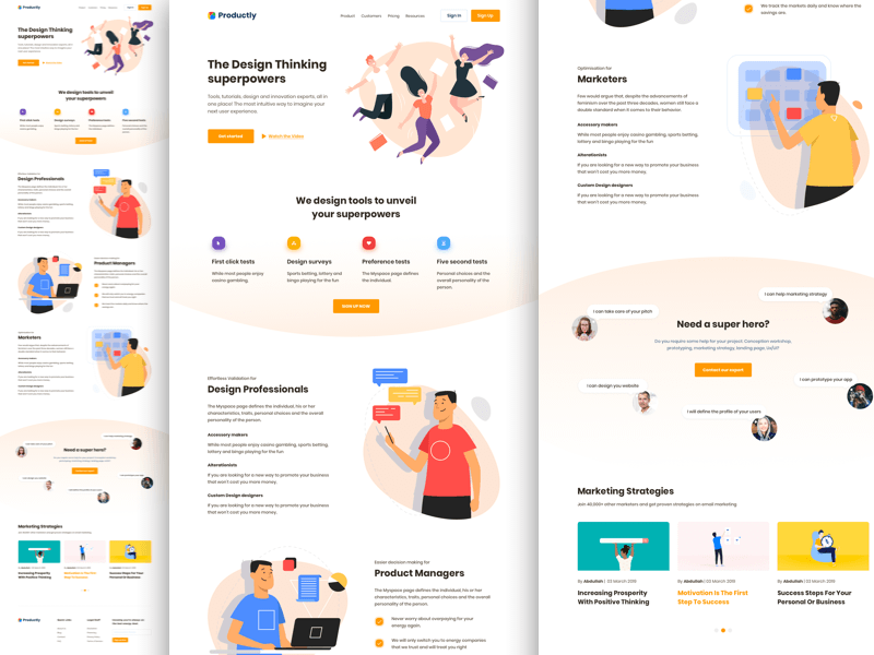 Productivity Landing Page