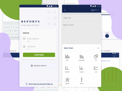 Android Reports App UI Kit