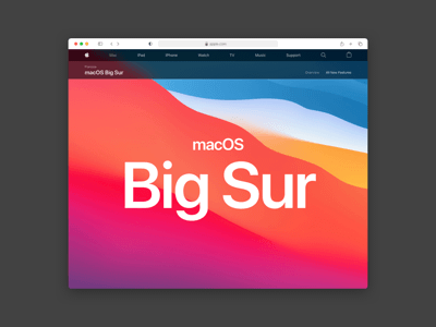 Safari Big Sur Mockup
