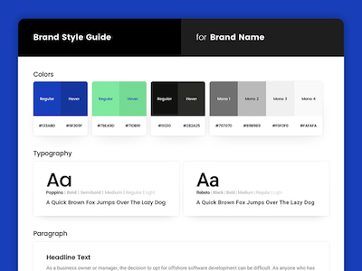 Sample Brand Style Guide