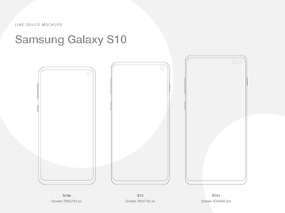 Line Mockups for Samsung Galaxy S10