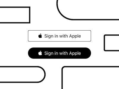 Sign in with Apple Buttons
