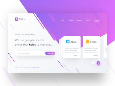 Sitica Landing Page