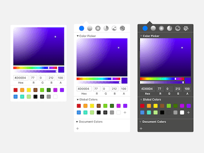 Sketch Color Picker GUI