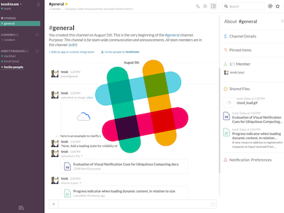 Slack UI - Channels and Modal