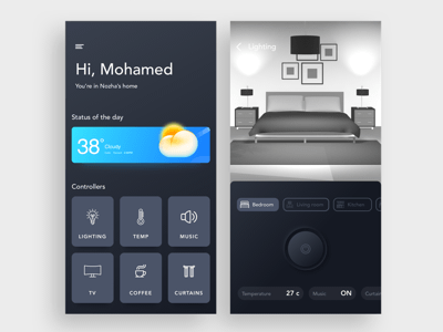 Smart Home App Screen