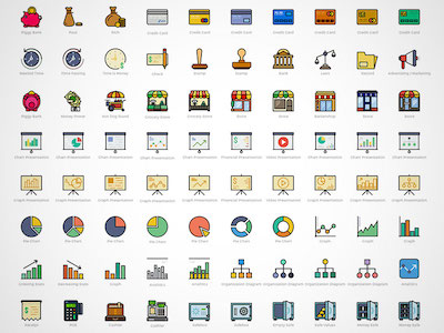 170 Business Icons