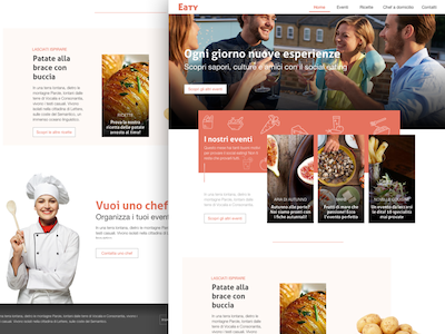 Social Eating Concept Page