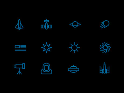 12 Space Icons