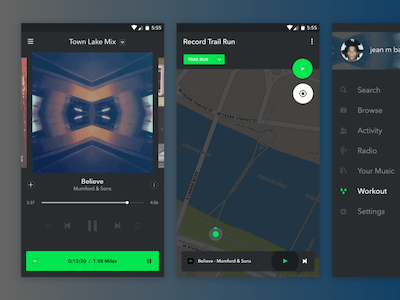 Spotify + Fitness App Concept