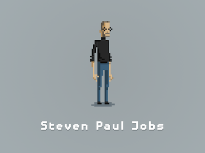Steve Jobs Pixel Art Illustration