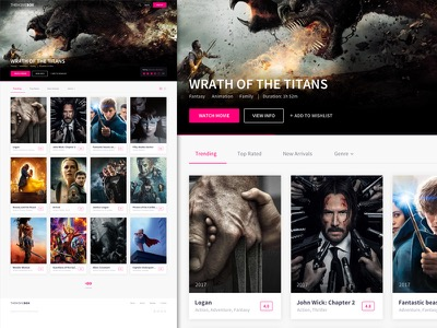 The Movie Box Landing Page