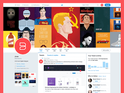 Twitter Website UI