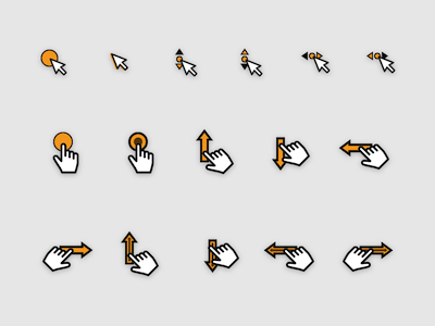 16 Interaction and UX Gesture Icons