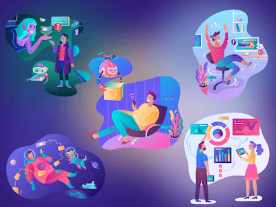 5 Vibrant Illustrations