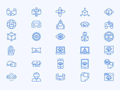 Virtual Reality Icon Set