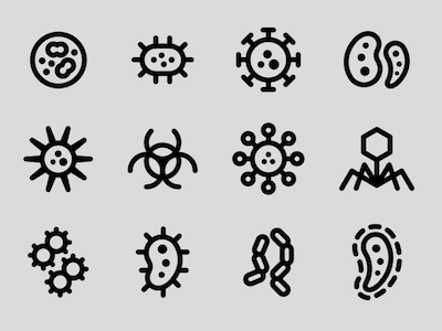 12 Virus and Lab Icons