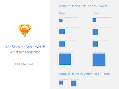 Icon Sizes for Apple Watch