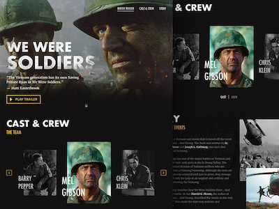 We Were Soldiers - Landing Page