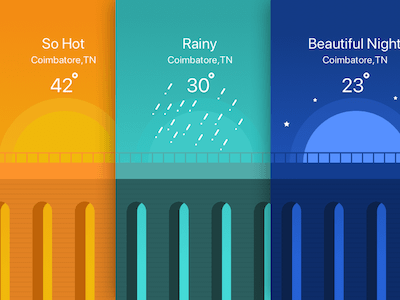 3 Weather App Backgrounds