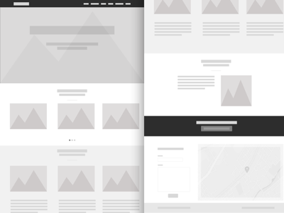 Simple Web Wireframe