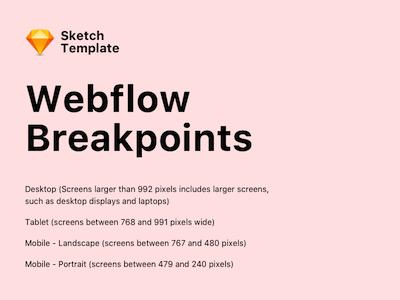 Webflow Breakpoints Template