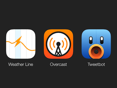 Weather Line, Overcast, Tweetbot Icons