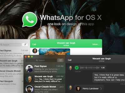 WhatsApp Concept for OS X