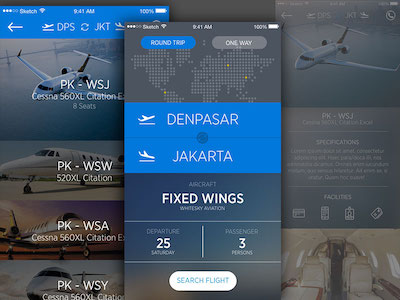 Whitesky Charter Flight App