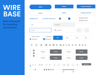 Wirebase Wireframing Kit